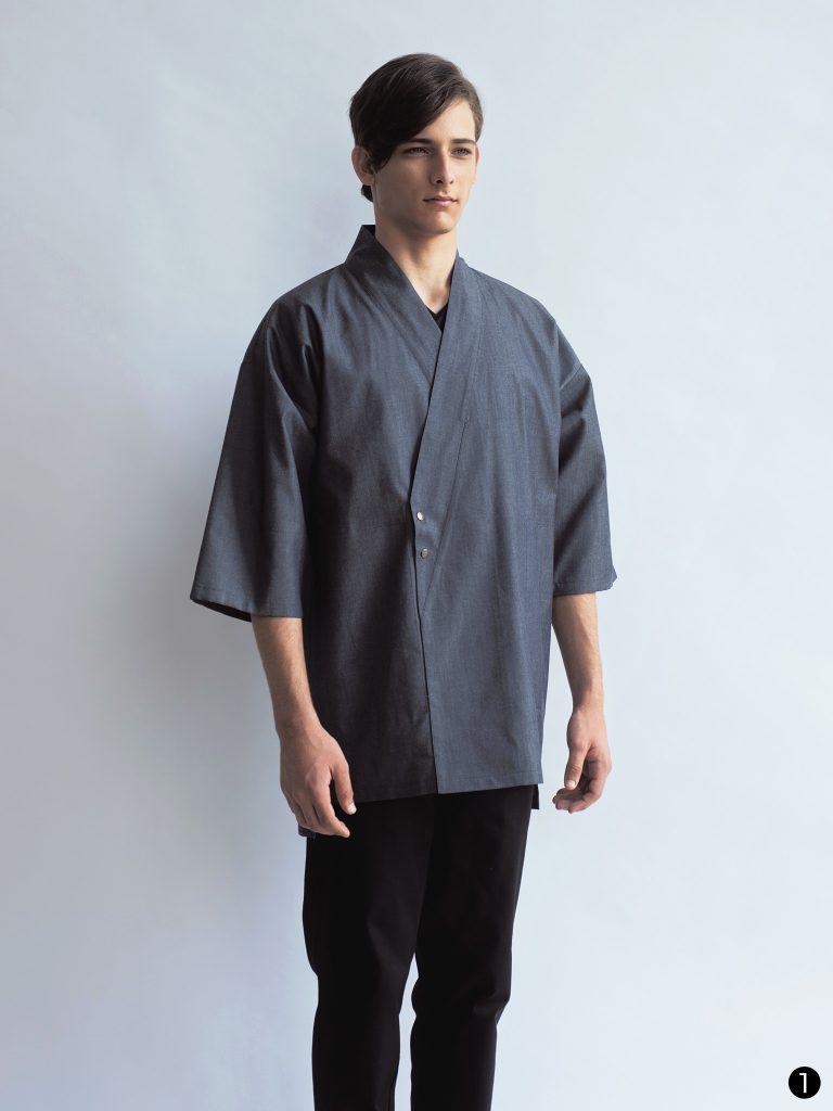 デニムの作務衣