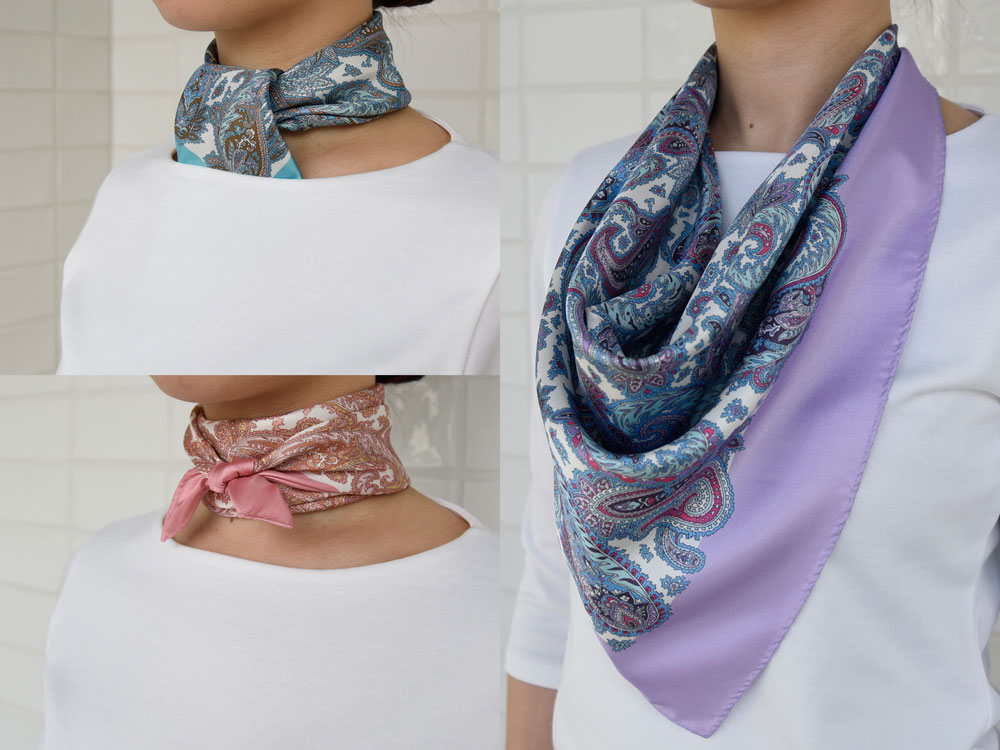 ペイズリー柄スカーフ