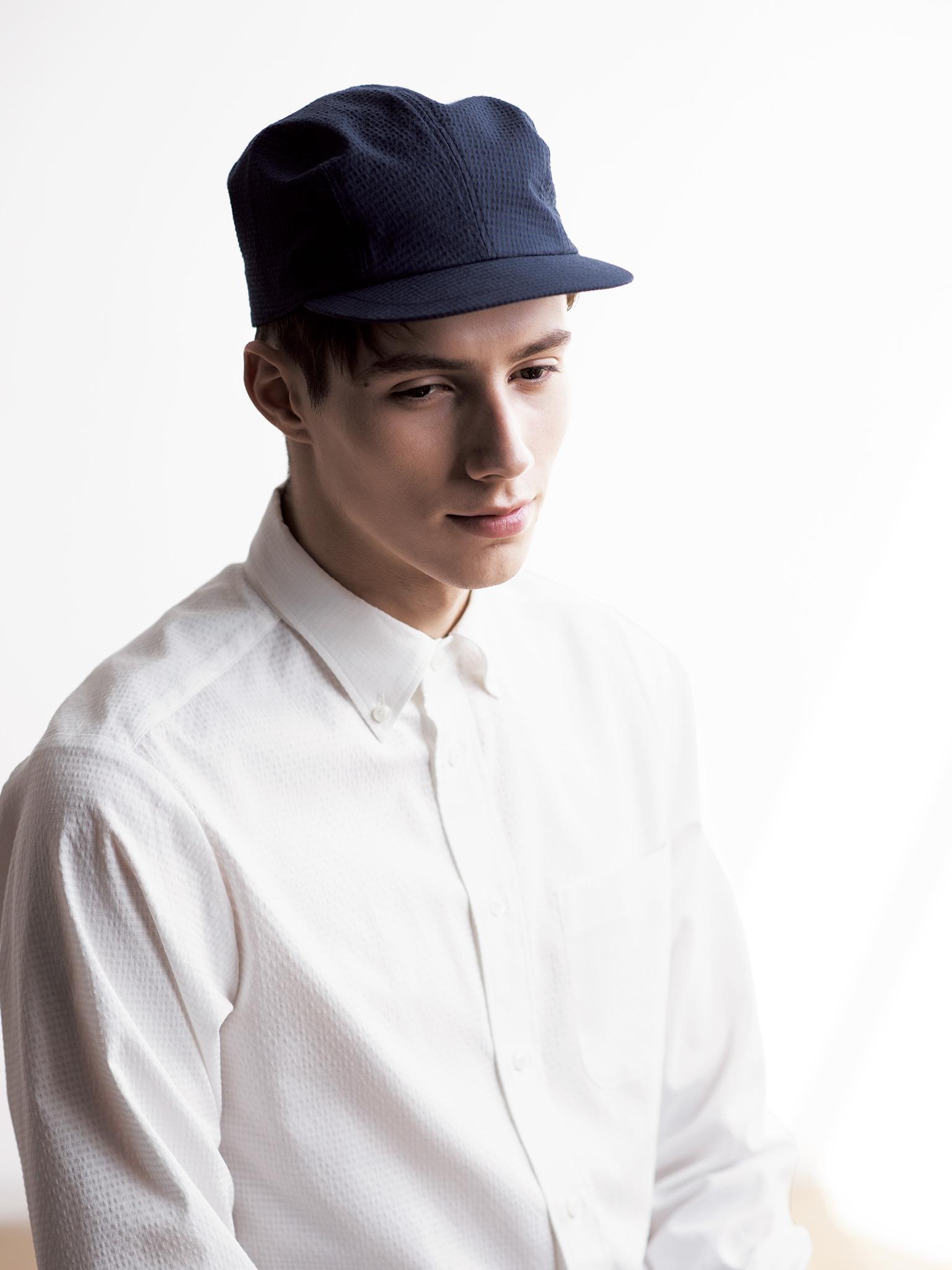 シアサッカー シャツ 帽子