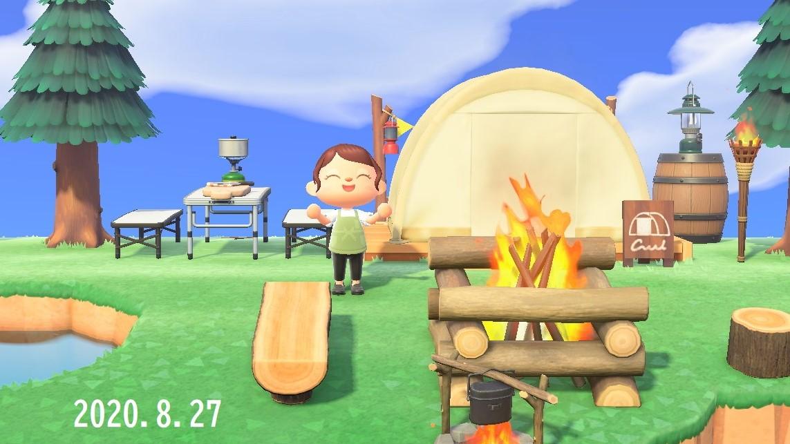あつ森 キャンプ場