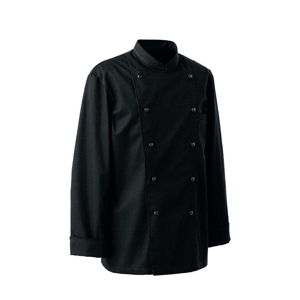 コックコート 黒 BA1220-9