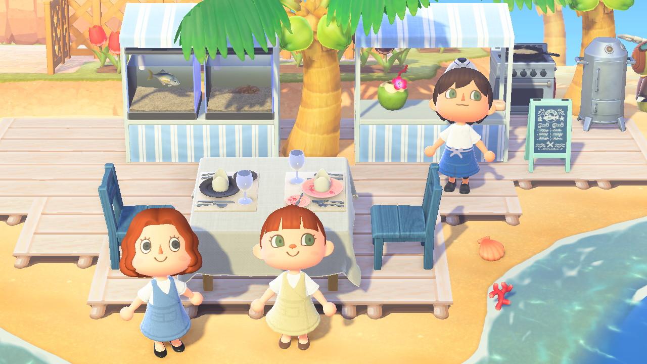あつ森 海辺のレストラン